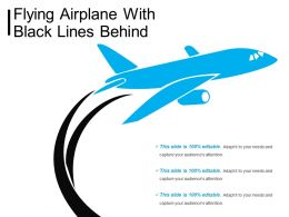 Flying Airplane With Black Lines Behind