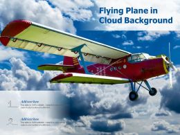 Flying Plane In Cloud Background