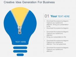 fm Creative Idea Generation For Business Flat Powerpoint Design