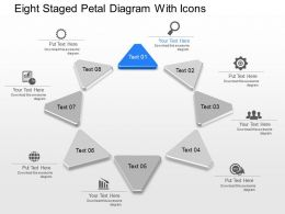 fm Eight Staged Petal Diagram With Icons Powerpoint Template