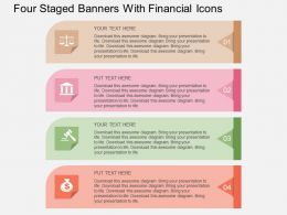 Fm Four Staged Banners With Financial Icons Flat Powerpoint Design