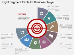 fn Eight Segment Circle Of Business Target Flat Powerpoint Design