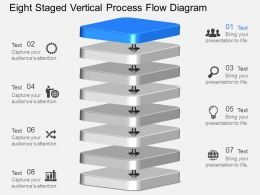 fn Eight Staged Vertical Process Flow Diagram Powerpoint Template