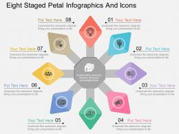 fo Eight Staged Petal Infographics And Icons Flat Powerpoint Design