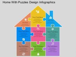 fo Home With Puzzles Design Infographics Flat Powerpoint Design