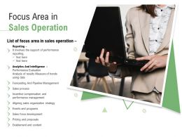 Focus Area In Sales Operation