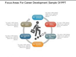 Focus Areas For Career Development Sample Of Ppt