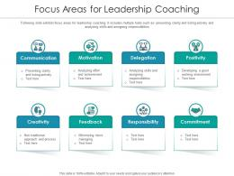 Focus Areas For Leadership Coaching