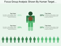 Focus Group Analysis Shown By Human Target Image