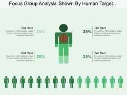Focus Group Analysis Shown By Human Target Image