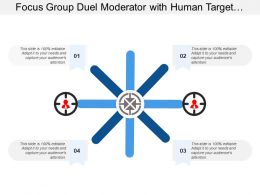 Focus Group Duel Moderator With Human Target Image