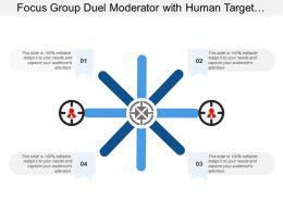 Focus Group Duel Moderator With Human Target Image