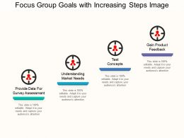 Focus Group Goals With Increasing Steps Image