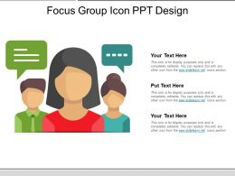 Focus Group Icon Ppt Design