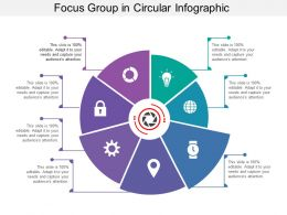 Focus Group In Circular Infographic