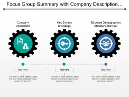 Focus Group Summary With Company Description Key Drivers And Demographics