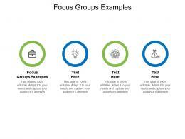 Focus Groups Examples Ppt Powerpoint Presentation Portfolio Show Cpb