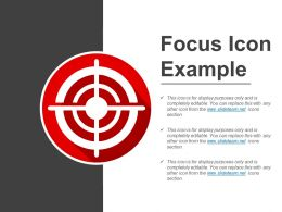 Focus Icon Example Ppt Diagrams