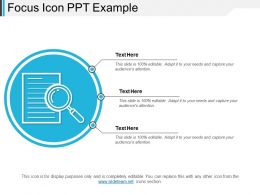 Focus Icon Ppt Example