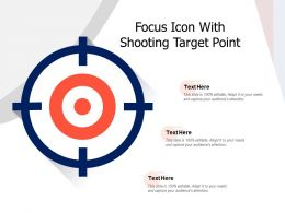 Focus Icon With Shooting Target Point