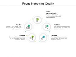 Focus Improving Quality Ppt Powerpoint Presentation Ideas Guidelines Cpb
