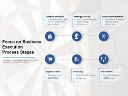 Focus On Business Execution Process Stages