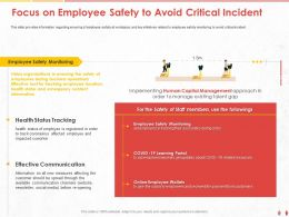 Focus On Employee Safety To Avoid Critical Incident Should Ppt Powerpoint Presentation Styles Format