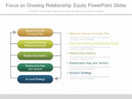 Focus On Growing Relationship Equity Powerpoint Slides
