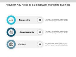 Focus On Key Areas To Build Network Marketing Business