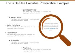 Focus On Plan Execution Presentation Examples