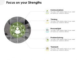 Focus On Your Strengths Ppt Powerpoint Presentation Portfolio Graphics