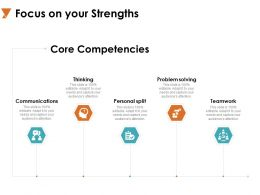 Focus On Your Strengths Problem Solving A722 Ppt Powerpoint Presentation Outline Designs