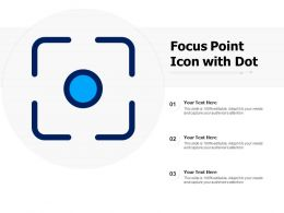 Focus Point Icon With Dot
