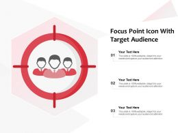 Focus Point Icon With Target Audience