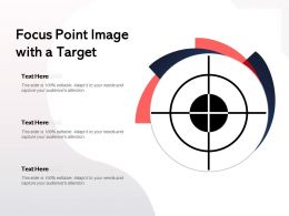 Focus Point Image With A Target