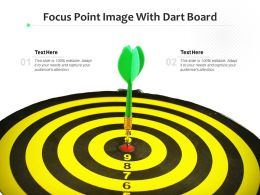 Focus Point Image With Dart Board