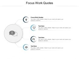 Focus Work Quotes Ppt Powerpoint Presentation Icon Templates Cpb