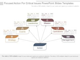 Focused Action For Critical Issues Powerpoint Slides Templates