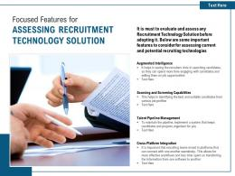 Focused Features For Assessing Recruitment Technology Solution