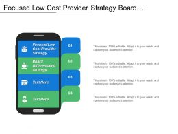 Focused Low Cost Provider Strategy Board Differentiated Strategy