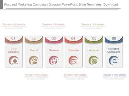 Focused Marketing Campaign Diagram Powerpoint Slide Templates Download
