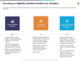 Focusing On Digitally Enabled Solutions By Hoteliers Ppt Powerpoint Presentation Styles