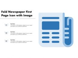Fold Newspaper First Page Icon With Image