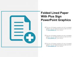 Folded Lined Paper With Plus Sign Powerpoint Graphics