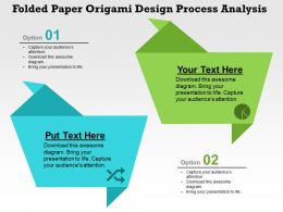 Folded Paper Origami Design Process Analysis Flat Powerpoint Design