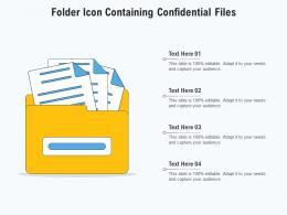 Folder Icon Containing Confidential Files