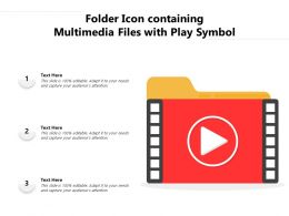Folder Icon Containing Multimedia Files With Play Symbol