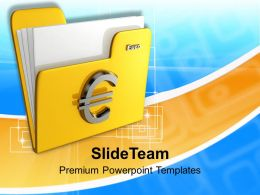 Folder Icon With Euro Sign Powerpoint Templates PPT Themes And Graphics 0113