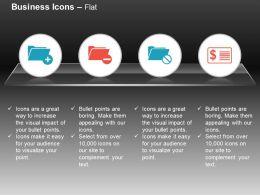 folder_plus_minus_block_money_receipt_ppt_icons_graphics_Slide01