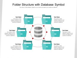 Folder Structure With Database Symbol